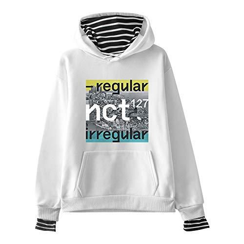 Fittrame NCT 127 Merchandise Hoodie Pullover Kpop Sweatshirt mehrere Farben, weiß, Medium