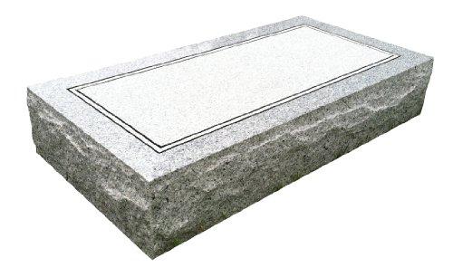 "Upstate Stone Works Granite Headstone 24""x12""x4"" Plain"