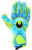 uhlsport Control SUPERGRIP Finger Surround Guantes de Portero, Juventud Unisex, Radar Blue/Fluo Yellow/Black, 10