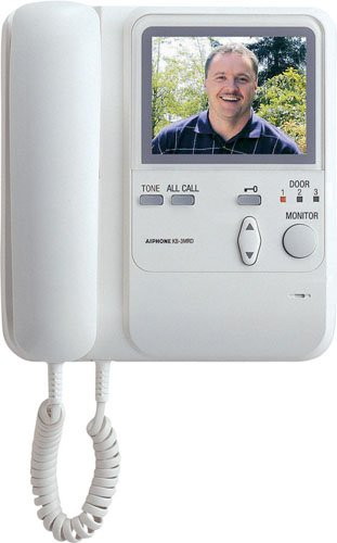 Aiphone KB-3MRD Audio/Video Master Station with Handset and Tilt Camera Control for KB Series...