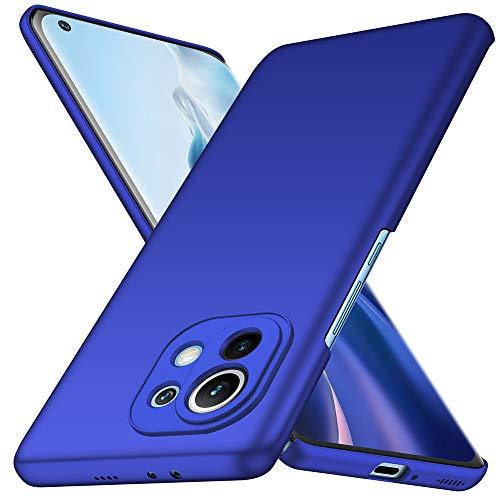YIIWAY Funda Xiaomi Mi 11, Azul Ultra Slim Protectora Funda Case Duro Cover para Xiaomi Mi 11 YW42123
