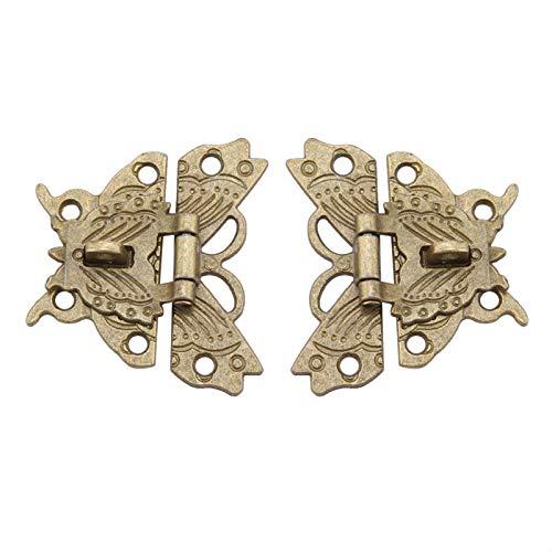 minifinker Material Decorativo de la aleación del cinc del Cerrojo del pestillo de la Cerradura de la Almohadilla, para la Caja de Madera del Vintage