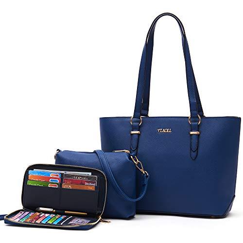 Monederos y cartera conjunto para las mujeres bolso de hombro de trabajo bolso bolso bolso bolso Crossbody Totes monedero con cartera a juego 3 unids