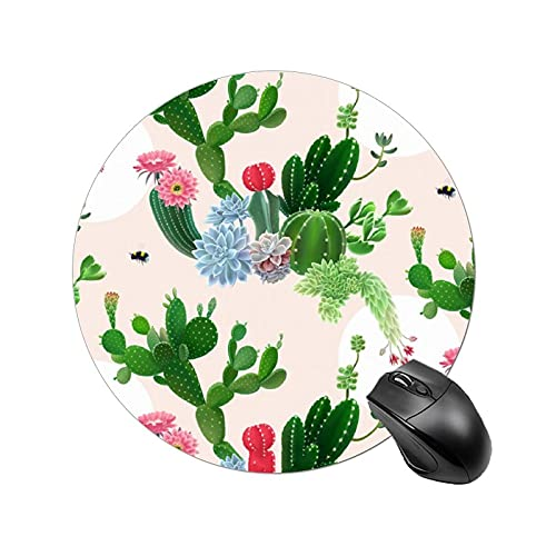NiYoung Mouse Pad with Stitched Anti-Fray Edges Mouse Mat Gaming for Computer & PC Office - Wilder California Prickly Pear Cactus, Mouse Pad Large Computer Keyboard Pad Mat Computer Accessories