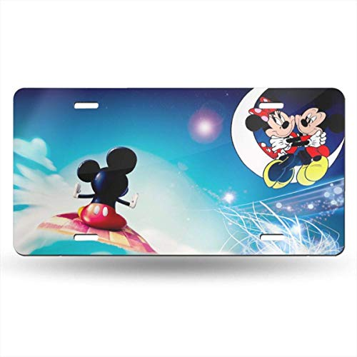 Suzanne Betty Aluminum License Plates - Flying Mickey Mouse License Plate Tag Car Accessories 12 X 6 Inches