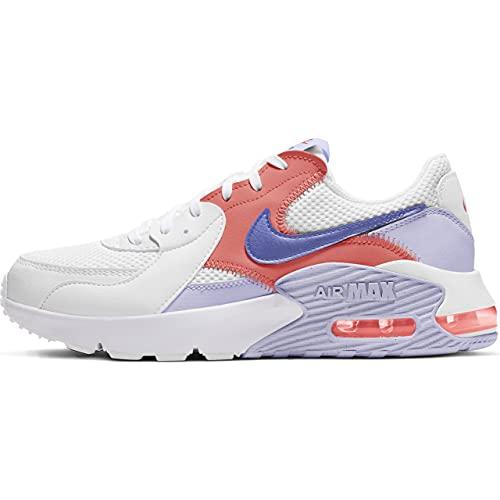 Nike Damen Air Max Excee Sneaker, White/Sapphire-Pure Violet-Mag, 40.5 EU
