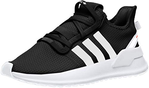 adidas unisex child U_path Run J (Big Kid) Sneaker, Core Black Cloud White Shock Red, 6.5 Big Kid US