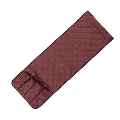 ZYCX123 Titular apoyabrazos apoyabrazos Bolsa del Organizador del almacenaje del sofá con 5 Bolsillos para guía telefónica Control Remoto del televisor 89X33CM Brown