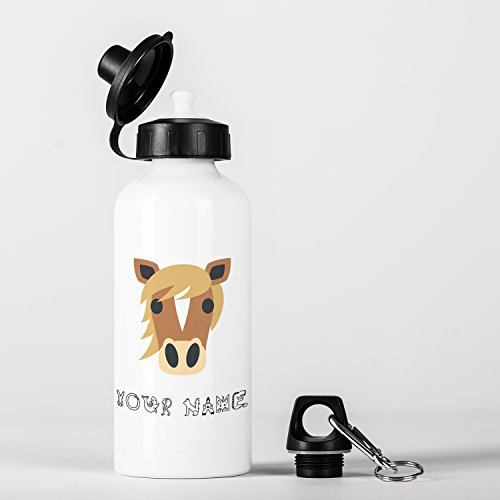 Personalised Horse Cute Animal Children Customizable Gourde en Aluminium Bottle