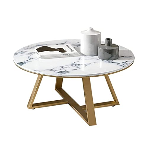 WSHFHDLC coffee table End Tables Metal Beside Tables for Living Room Round Side Tables for Small Spaces Metal Basket and Gold Wrought Iron Frame small coffee tables