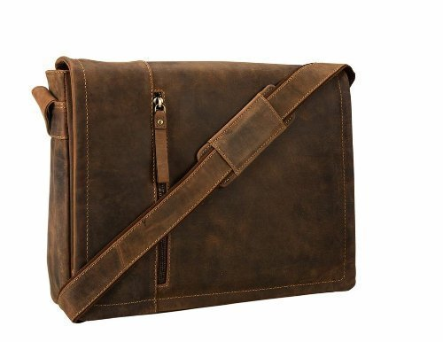 Visconti Visconti Foster 13.3 Inch Distressed Oiled Leather Laptop Messenger Bag, Tan, One Size