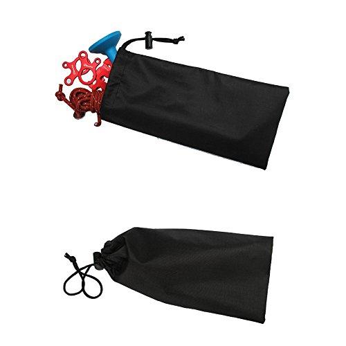 Forfar 1 PCS Sac à ongles de tente 23cm Pegs Accessoires Pochette Cas de couverture de stockage de clou de tente de vent de marteau de cas Matériel de camping itinérant