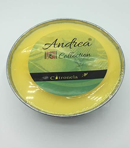 Andrea Citronella-Kerze mit 3 Dochten, Citronella-Kerzen, Sojawachs, Reise-Kerzen für den Außenbereich, Insektenschutz, ideal für zu Hause, Kerzen für den Außenbereich, Geschenk, 18 x 5 cm Durchmesser