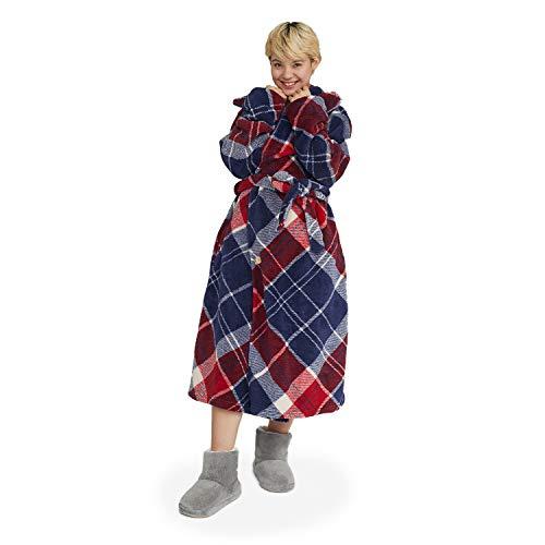 groony グルーニー 着る毛布 ルームウェア 着丈110cm ユニバースチェック