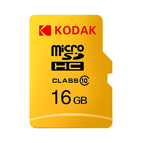 Grborn Tarjeta de Memoria Kodak Micro SD Tarjeta de Memoria de 16GB TF Class10 C10 U1 Velocidad rápida