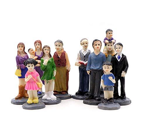 Belle Petite Maison de poupée Joue des poupées de Jeu de rôle, Quatre peuples de Famille