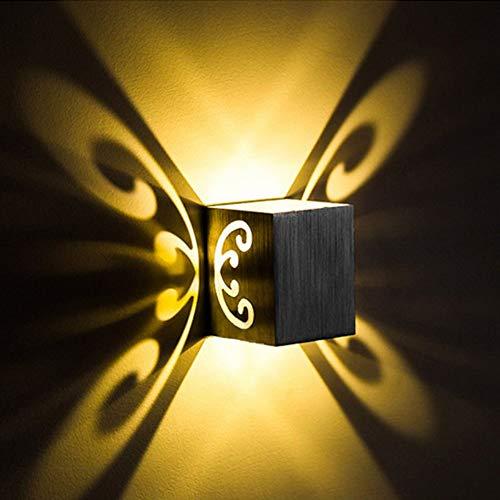 Wandlampe Led Wandleuchten Led Innen Wandbeleuchtung Hall Einfach Interieur Treppen Korridor Studio Wohnzimmer Metall Innenwand Schmetterlingshintergrundlicht 3W Kühles Weiß