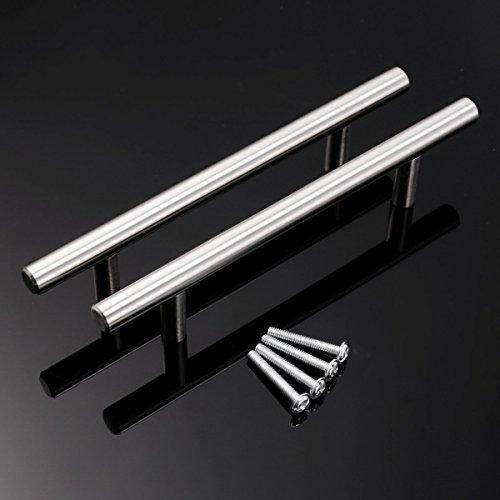 Heritan Manijas de puerta de cocina de acero T Bar 96mm centros de agujero