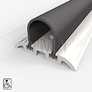 Shower Threshold, Water Dam, Wheelchair Accessible Aluminum Retainer with Solid Neoprene Seal, 48