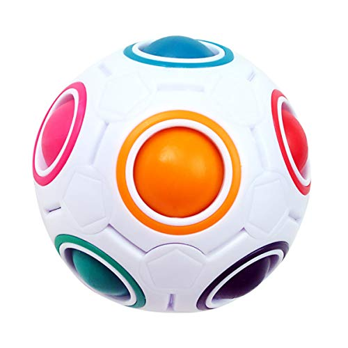 KidsPark Magic Ball Regenbogen Ball Zauberwürfel 3D Puzzle Ball Speed Cube Würfel Regenbogenball Toy Pädagogische Spielzeug
