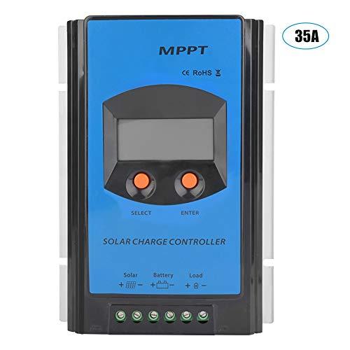 KIMISS 12/24 Universal MPPT Solarladeregler mit übersichtlicher LCD Anzeige, wasserdichter Solarpaneel Akkumulator mit IP32 Anschluss, Maximum Power Point Tracking für PV Photovoltaikanlage(25A)