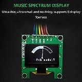 ORPERSIST Espectro Música Estéreo, Analizador Espectro Musical Miniatura Dos Canales, Luces De Espectro Musical Múltiples Modos para Cuarto,Verde
