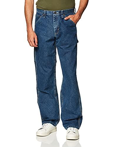Lee - Pantalones vaqueros de pernera recta, corte holgado y estilo carpintero para hombre - Azul - 42W x 29L