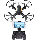 DIY Mini RC Toy Quadcopter Battle Drone Set Building Kit With FPV HD...