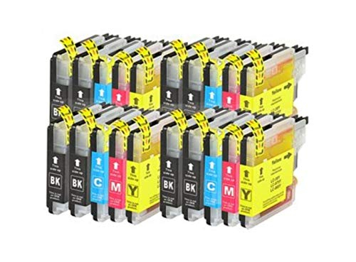 20 X CARTUCHOS COMPATIBLES NON OEM Brother Lc1100 LC980 , DCP 185 C, DCP 385C, DCP 395CN, DCP 585CW, DCP 585 C , DCP 6490 CW, DCP 6690CW, DCP J715W, MFC 490CW , MFC 790CW, MFC 795CW, MFC 990CW, MFC 5490CN , MFC 5890CN, MFC 5895CW, MFC 6490CW, MFC 6890CDW , MFC 6890 CW, MFC 6890 C