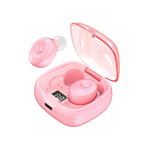 Bomoya Tws 5.0 Ipx5 impermeable inalámbrico Bluetooth auricular subwoofer mini deporte correr fitness auriculares estéreo pantalla de datos negro blanco rosa