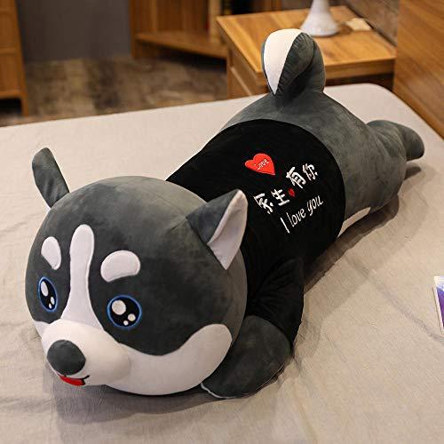 ZZKHSM Husky Puppe Plüschtier niedlichen Hund Puppe Puppe Puppe Mädchen Erha Kissen-Sie_ haben_der_Rest_von_Ihr_Leben