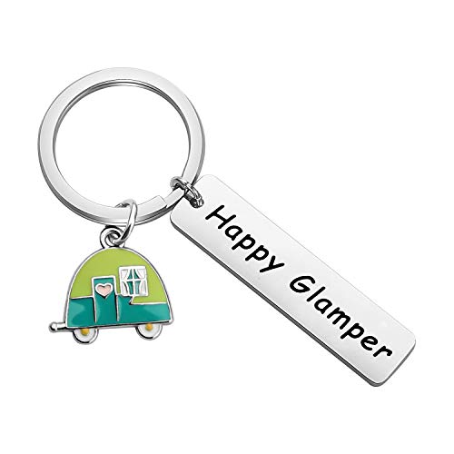 PLITI Happy Glamper Campers Keychain Happy Campers Keychain...