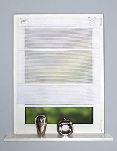 Home Fashion MAGNETROLLO BAMBUSOPTIK Uni, Weiss, 130 X 100 cm