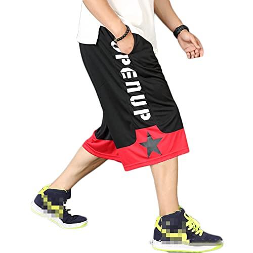 YUEMO Pantalones cortos de baloncesto de la NBA para hombre, de verano, 3/4, 14, XXL