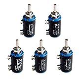 HiLetgo 5pcs WXD3-13-2W 10K Ohm Multi-Turn Wirewound Potentiometer 10K Ohm