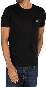 Calvin Klein CK Essential Slim tee Camisa, Black, XX-Large para Hombre