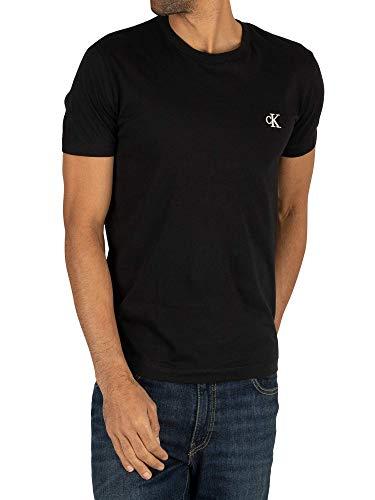 Calvin Klein CK Essential Slim tee Camisa, Black, M para Hom