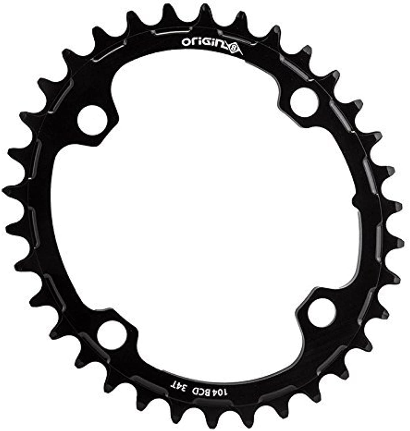 Origin8 Holdfast Oval 1x Chainring, 104mm BCD, 34t by Origin8