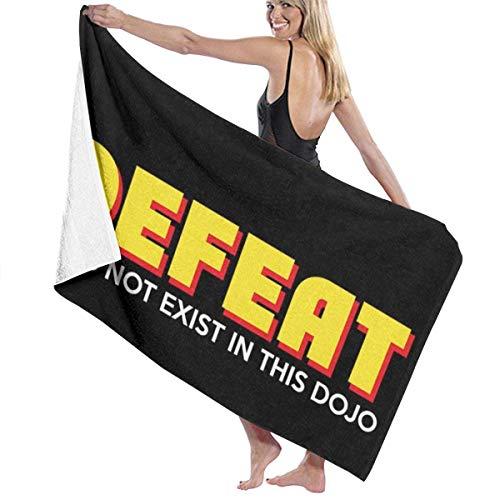 KOMOBB Cobra Kai Fear Pain and Derroat Do Not Exist in This Dojo, Trucker Cap Toalla de baño de 5 estrellas Calidad de hotel Premium Collection Toalla de baño.