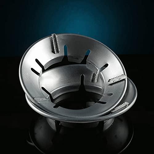 Delisouls Cubierta universal de la estufa de gas de ahorro de energía, cubierta de estufa de gas de disco redondo a prueba de viento, cubierta de ahorro de energía para accesorios