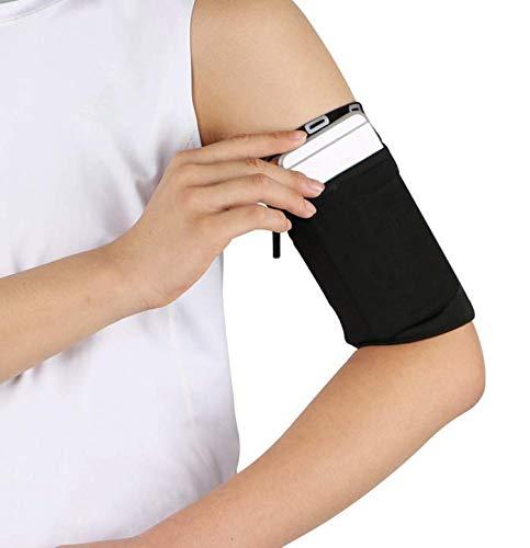 HzYisida TM Armband für Motorola One Zoom/Moto G8 Plus / G8 Play / G7 Plus / G7 Play / E6 Plus / E5 / Z4 / Z3 Play/Razer Phone 2 / HTC/BLU Handys, L, schwarz