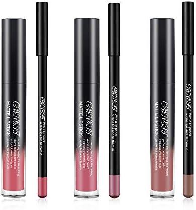 Ownest 6 Packs Matte Nude Liquid Lipstick Lip Liner kit Velvet Matte Lip Gloss Waterproof Lip product image