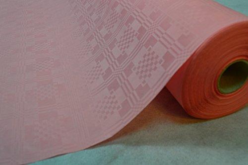 TOP Marques Collectibles 50 Meter Lang 100 cm Breit Farbe: Rosa Tischdecke Papier Damastprägung Tischtuch Papierttischdecke Decke Rolle Papiertischdeckenrolle Papierdecke