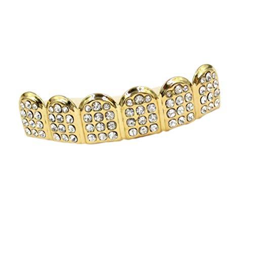 MILISTEN Dientes de Diamantes de Imitación de Oro para Hombres Mujeres Hip...
