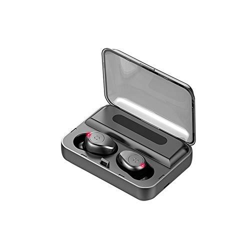 Festnight Drahtloser BT-Kopfhörer 8D Surround-Stereo-Sound In-Ear-Sport-Ohrhörer mit intelligenter Steuertaste Power Bank-Funktion Schwarz