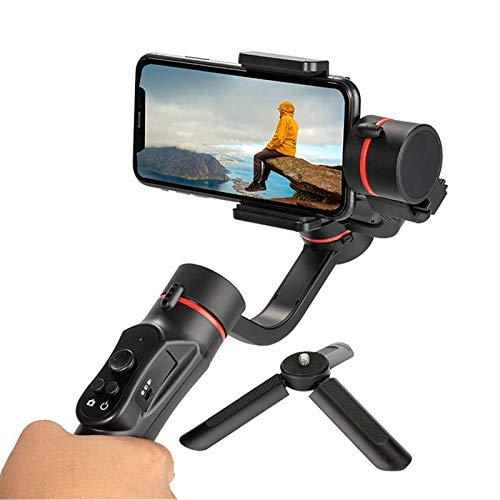 Estabilizador de cardán de mano, cardán de teléfono inteligente de 3 ejes con mini trípode, seguimiento facial, estabilizador de teléfono plegable y liviano para grabación de video en vivo de Selfie