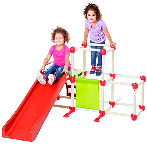Lil' Monkey Olympus Jungle Gym, Toddler Climber Playground - Folds Within Less than One Minute - Indoor and Outdoor Play Equipment For Kids
