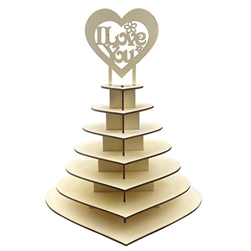 Harilla Personalized 7 Tier Heart Shape with Au Candy Display