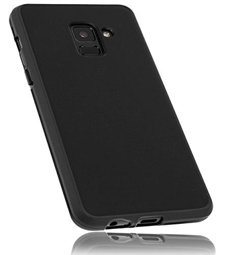 mumbi Hülle kompatibel mit Samsung Galaxy A8 2018 Handy Case Handyhülle, schwarz