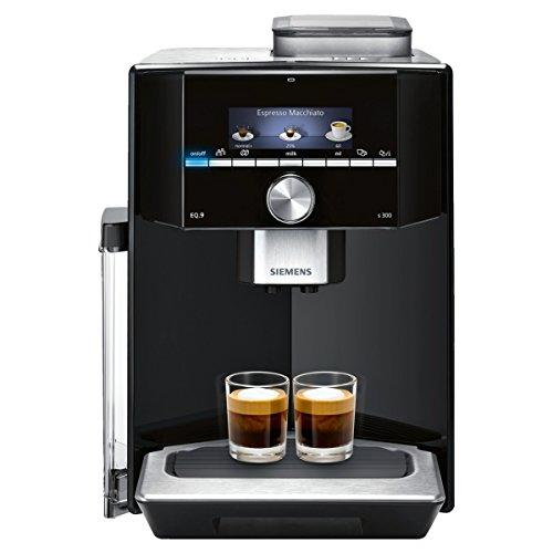 Siemens TI913509DE EQ.9 s300 Kaffeevollautomat (1500 Watt, maximales Aroma, vollautomatische Dampfreinigung, sehr leise, Speicherfunktion, iAroma) schwarz/edelstahl